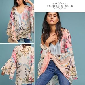 NWT Anthropologie Saachi Jordin Floral Lightweight Kimono - One Size Fits All